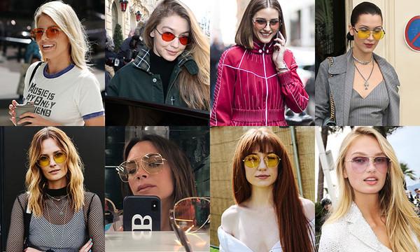 Celebrities wear tinted eyewear